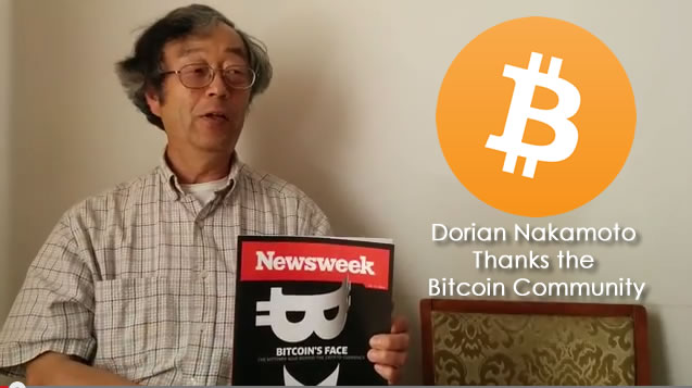 Dorian Satoshi Nakamoto Thanks Bitcoin Community