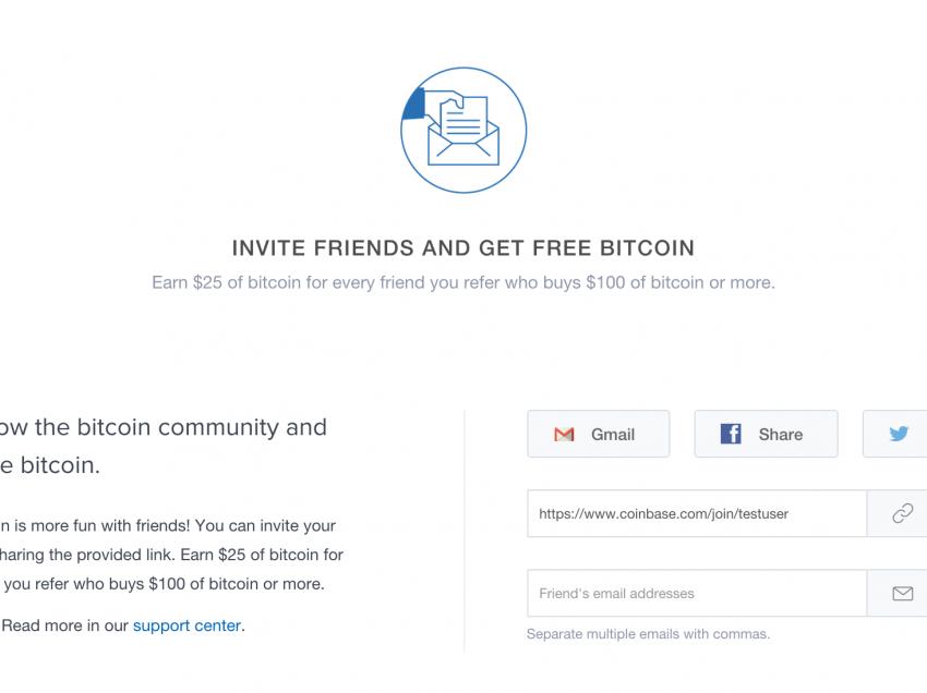 Coinbase Launches $25 Referral Bonus